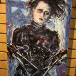 Comic-Con 2012 Edward Scissorhands Painting
