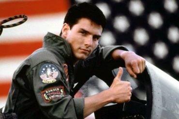 Tom Cruise as Maverick in Top Gun