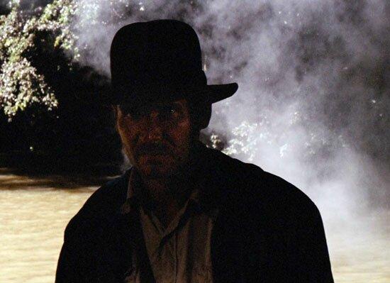Indiana Jones in silhouette
