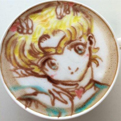 Japanese Latte Art Sailor Moon