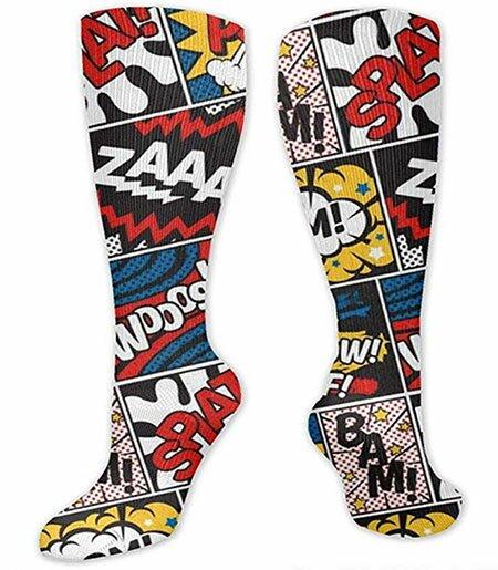 Comic Book Compression Socks